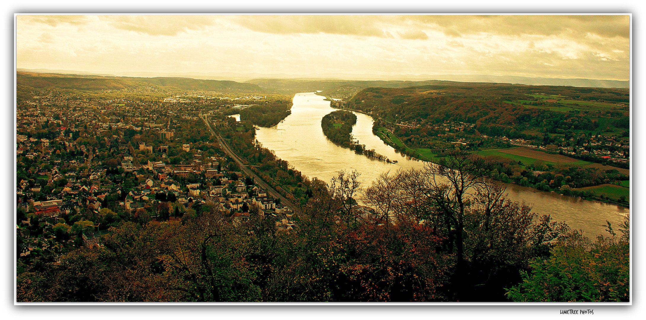 View from Drachenfels on the Rhine River