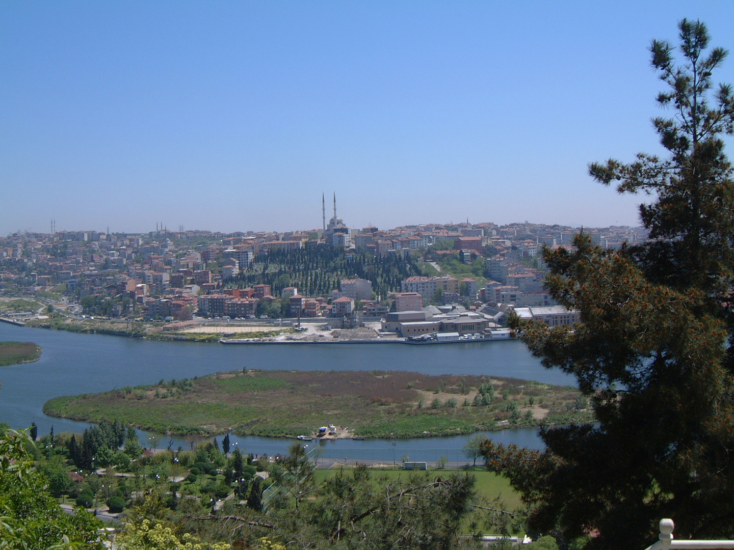 View from Eyüp Sultan Cemetery to the Asian Part of Istanbul