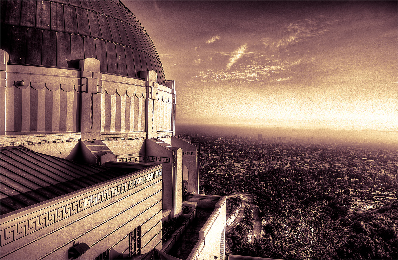 View from Griffith Observatory to Downtown L.A.