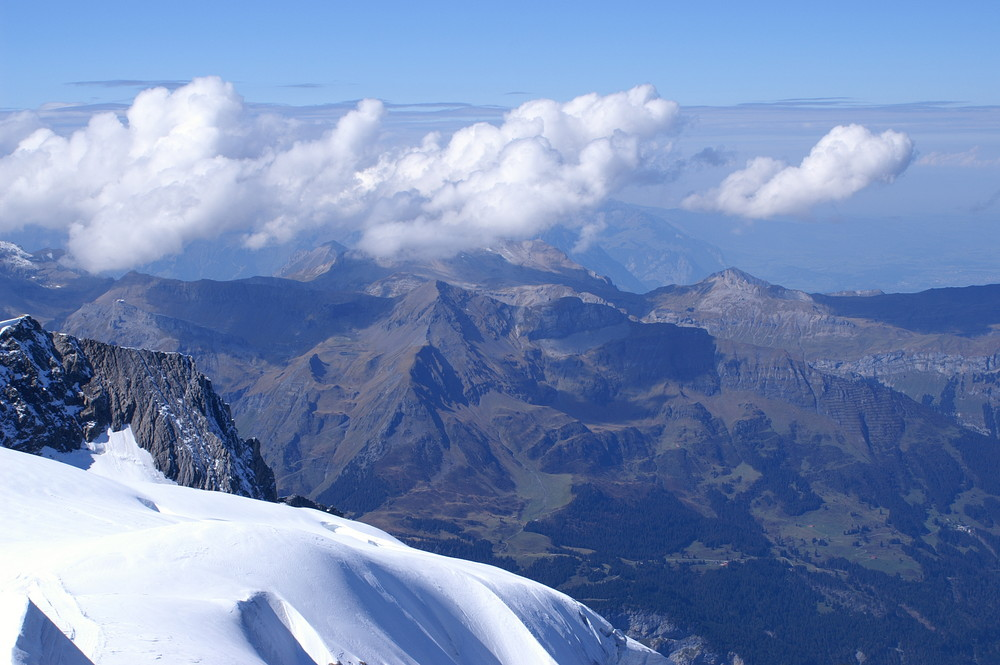 view from Jungfraujoch, top of Europe