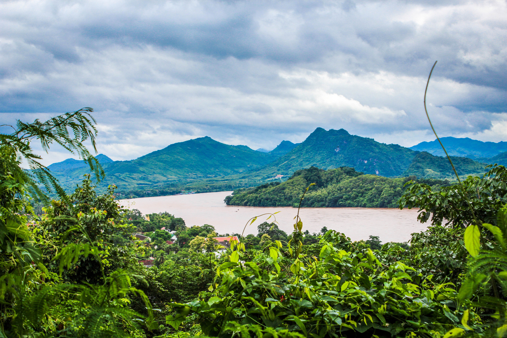 View from Mount. Phousi, Laos