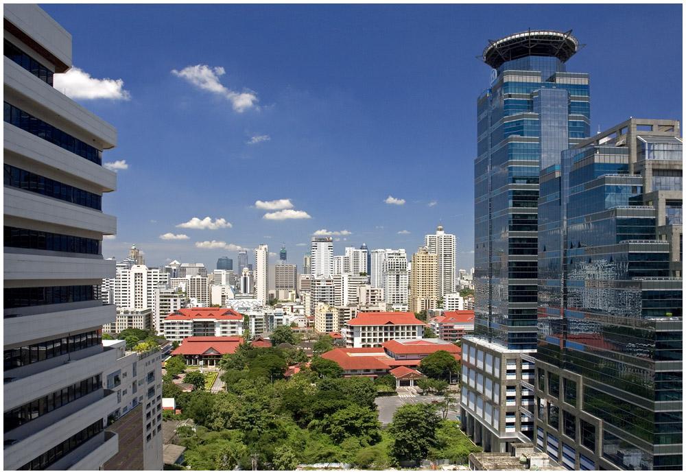 View from my livingroom in Asoke, Bangkok