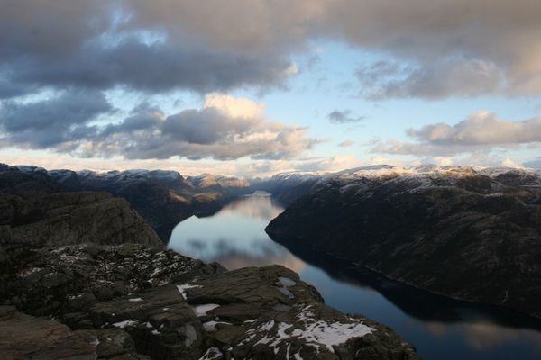 view from the preikestolen norway