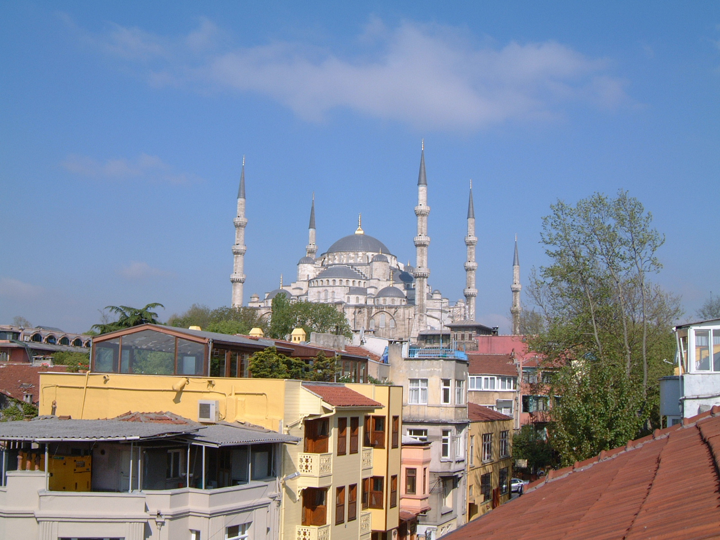 View from the Roof of Obelisk & Sümengen Hotel to the Blue Mosque (Sultanahmet Camii)