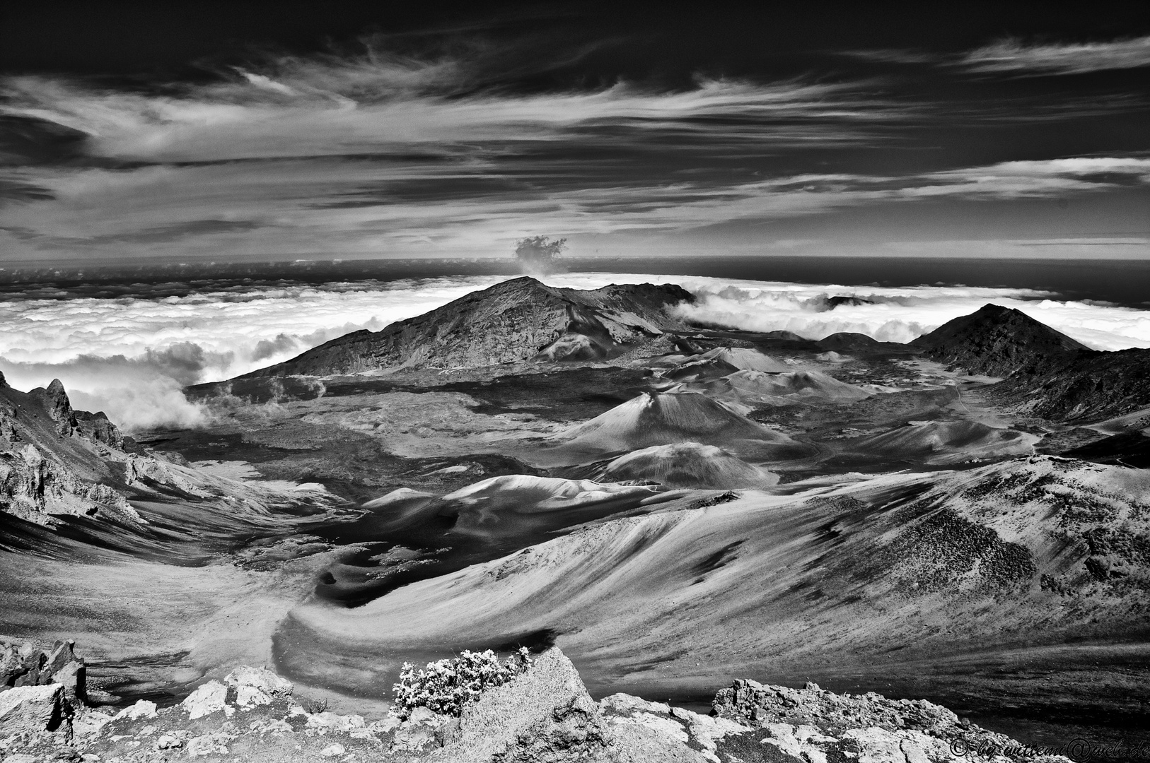 View from the top of the Haleakala Crater