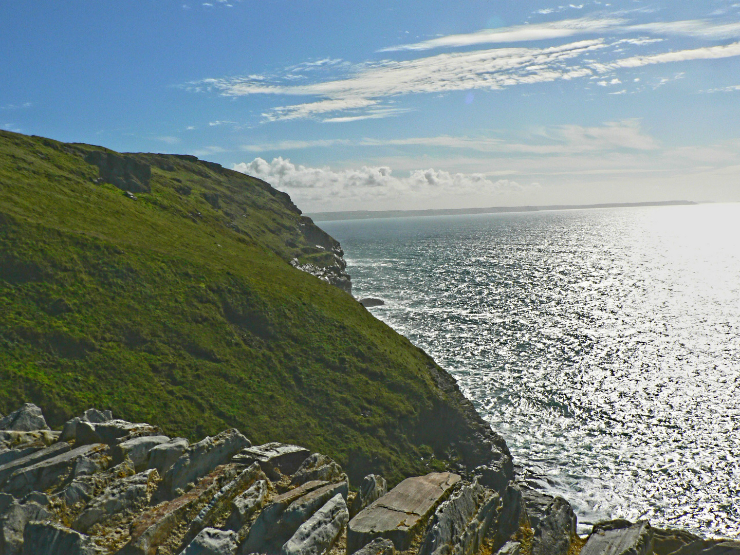View from Tintagel Castle along the Gull Rock Coast Line