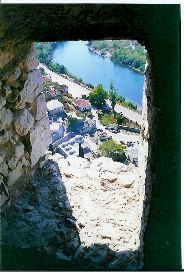 View from tower of Pocitelj over Neretva floating to the south