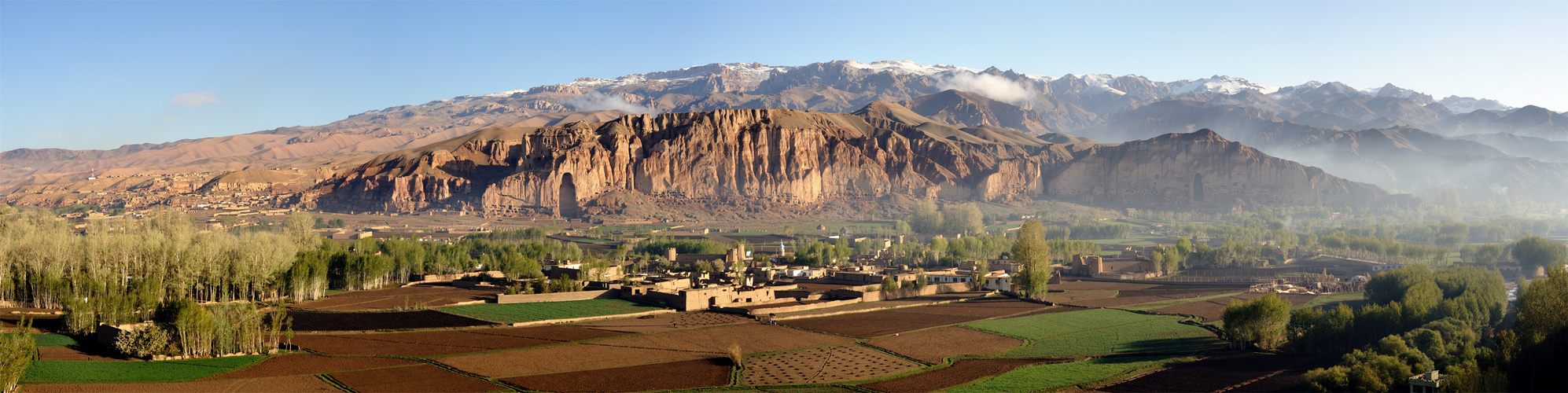 View of Bamiyan at dawn