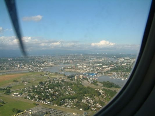 View of Vancouver at take off