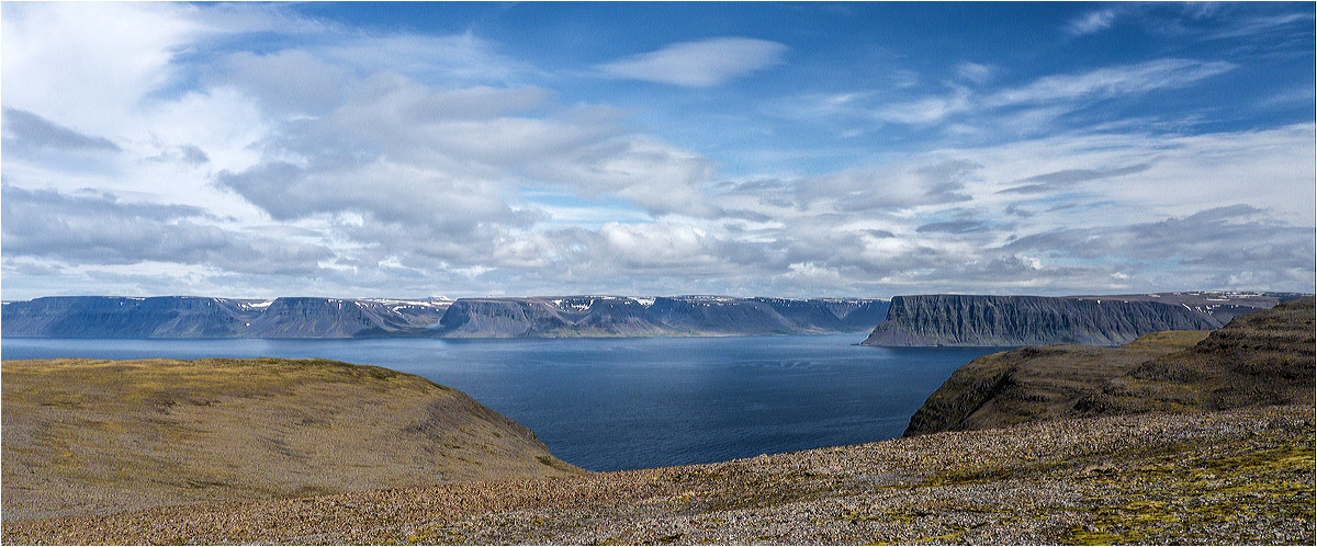 View of Westfjords..