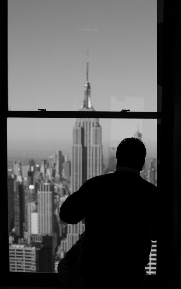 "view on the empire state building, ""top of the rock"", n.y."