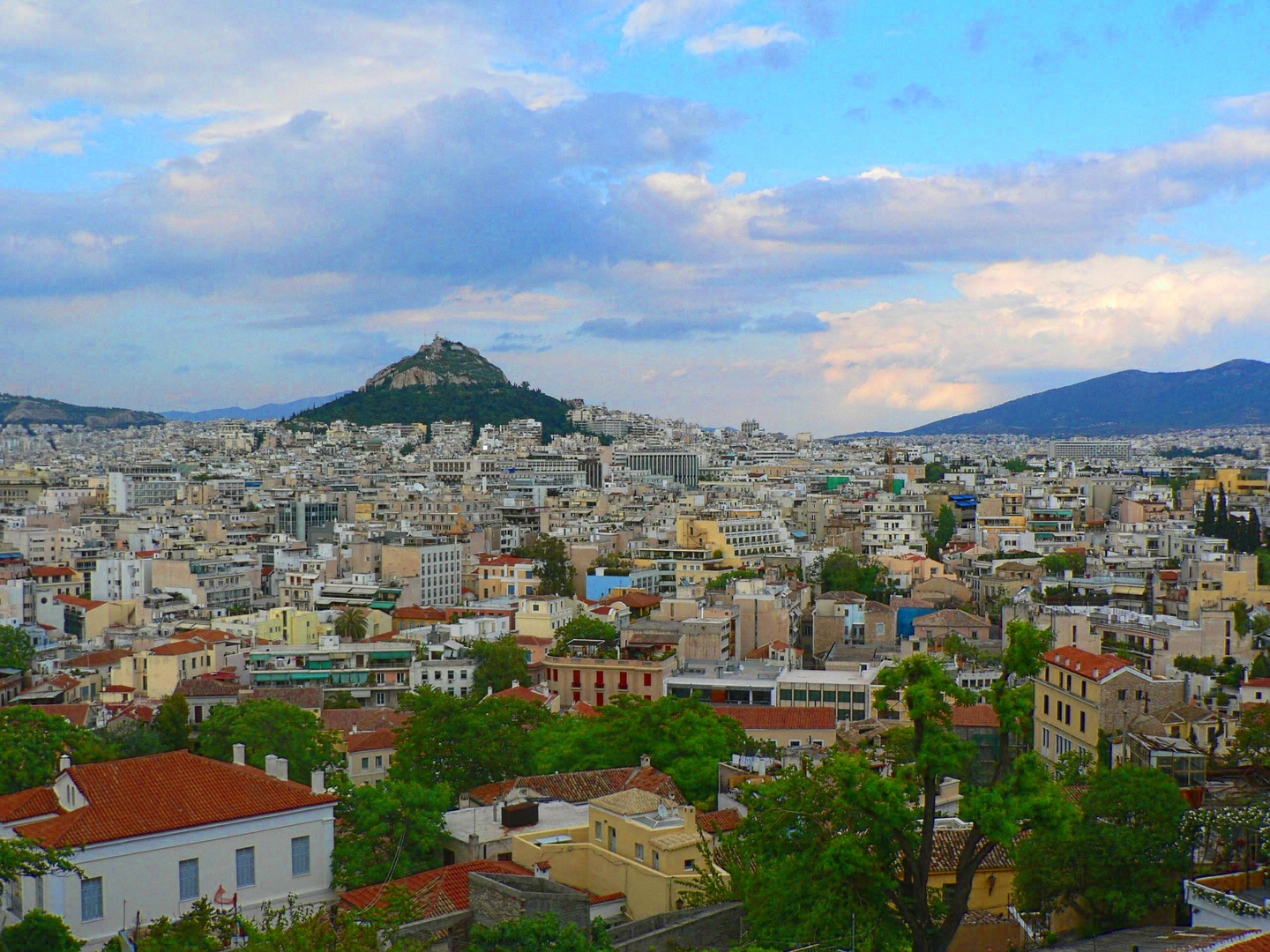 View over Athens to Likavittos Hill