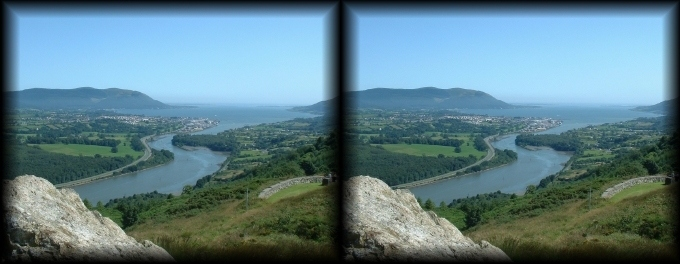 View over North and South Ireland: Carlingford