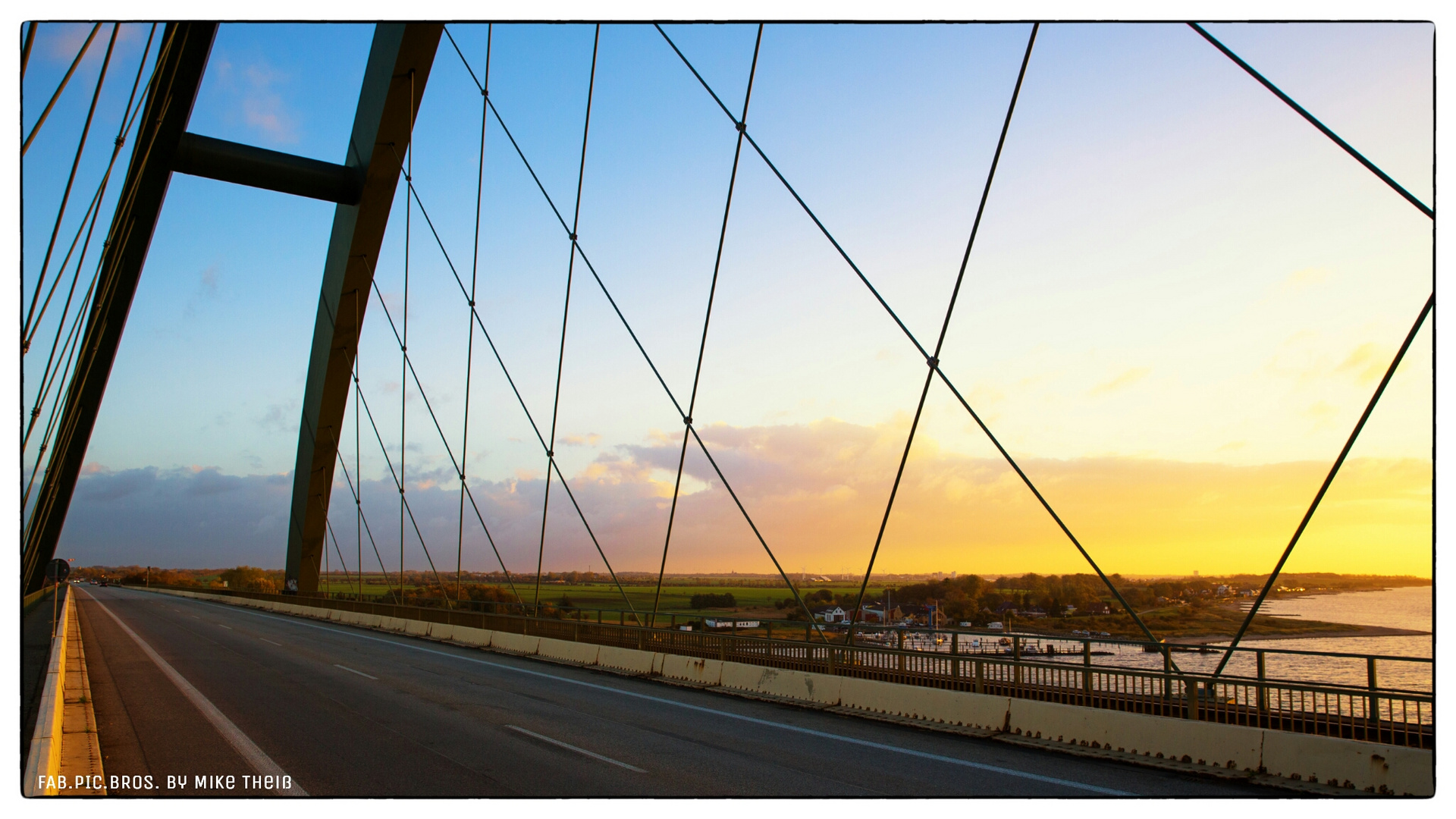 view through a bridge
