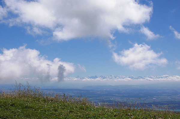 View to the Alps from Chasseral