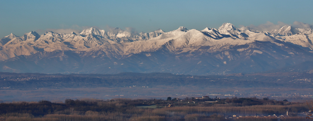...View to the Alps in Piemonte...