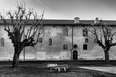 Vigevano, castello Sforzesco, cortile
