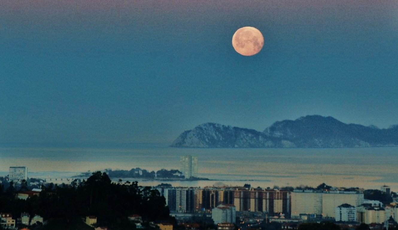 Vigo , luna llena