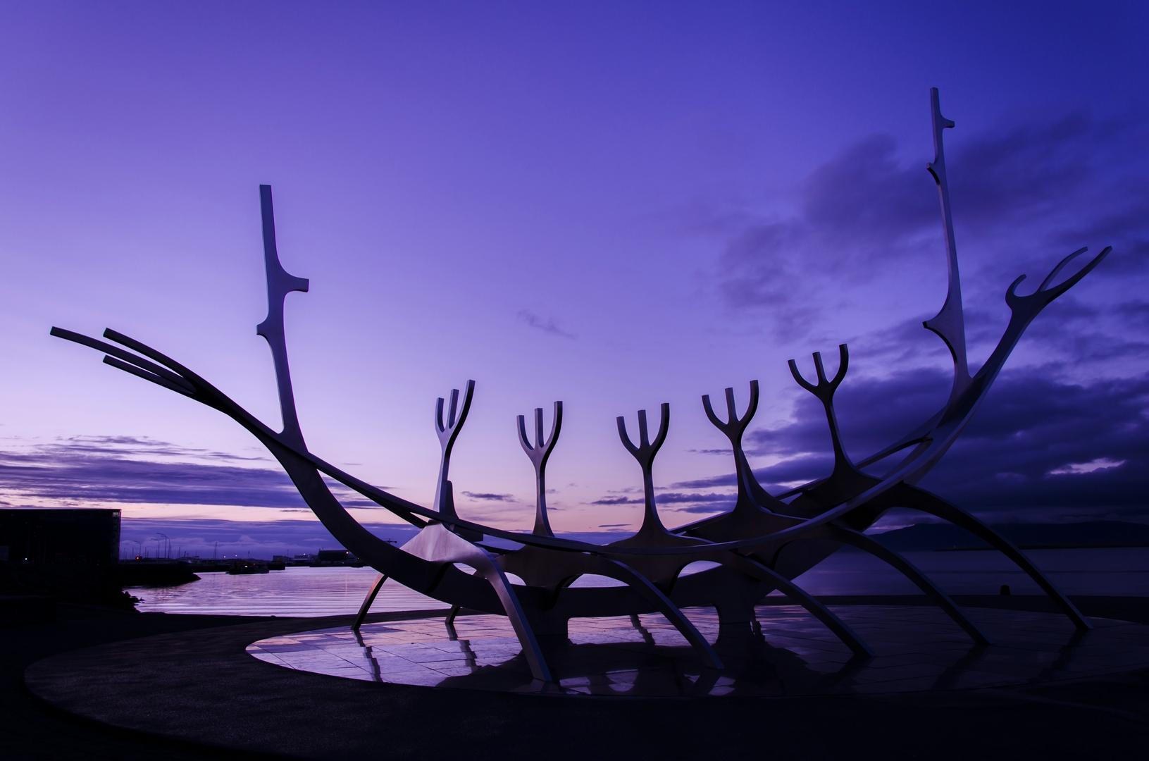Viking-ship in Reykjavik