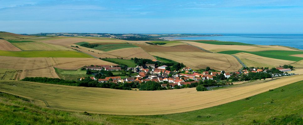 Village d'Escalles et le cap Gris-Nez