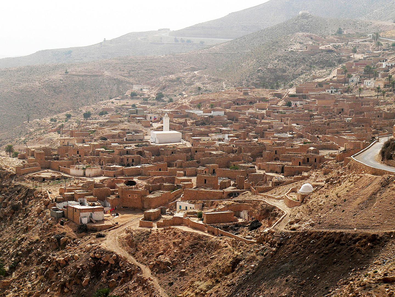 villaggio del sud della Tunisia