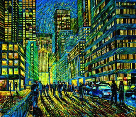 """Vincent goes to New York City"".. LIGHTPOWER"