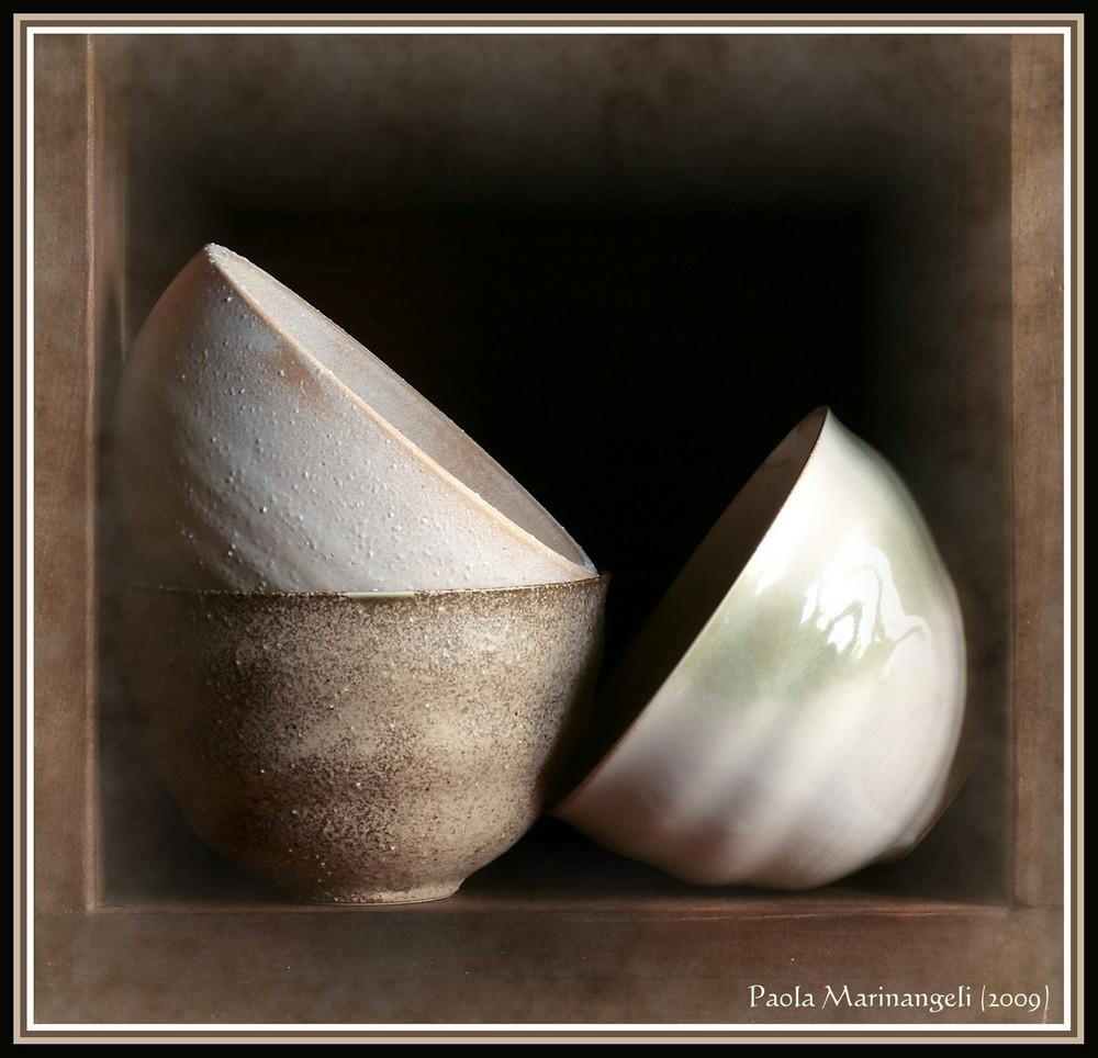 Vintage tea bowls