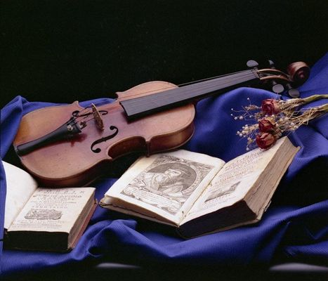 Violino su blu