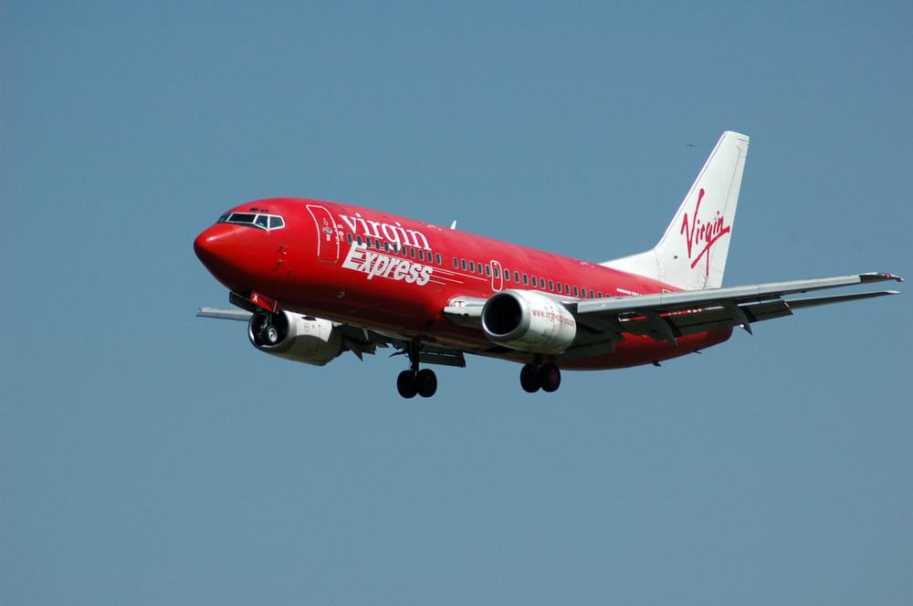 Virgin express bei der landung in Zaventem