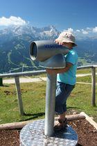 Viscope das intelligente Fernrohr auf der Wank bei Garmisch-Partenkirchen