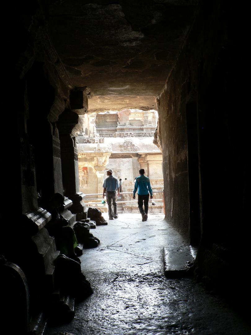 Visitors Ellora Cave Temples