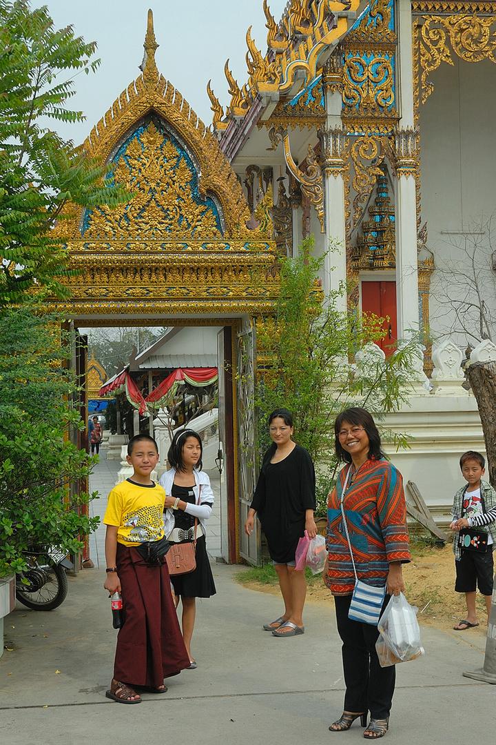 Visitors from Bhutan in Nakhon Chaisri Thailand