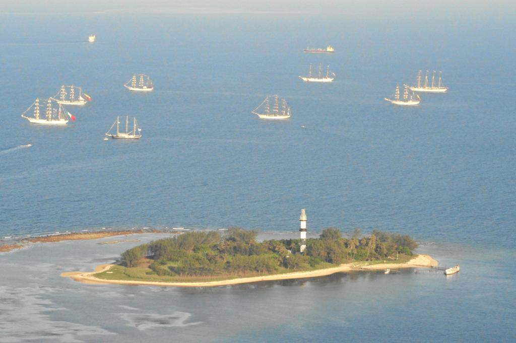 Vista aerea de la Isla de Sacrificios