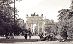 vista :  Arco della Pace