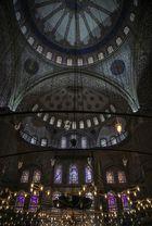 Vista interior bovedas Mezquita Azul (Estambul Turquia)