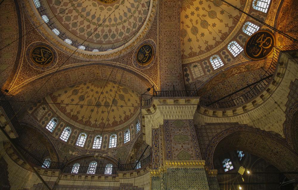 Vista interior bovedas Yeni Cami Mezquita Nueva (Estambul Turquia)