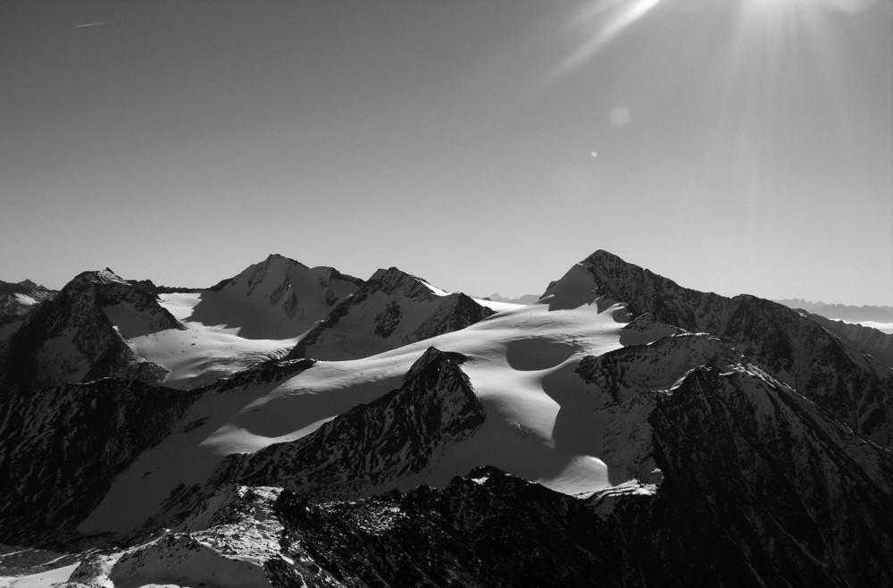 Vista panoramica dal Ghiacciaio in val Senales