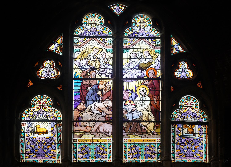 Vitrail dans l'église de Béthune