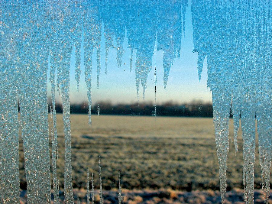 vitre congelée/ Autoscheibe bei Frost