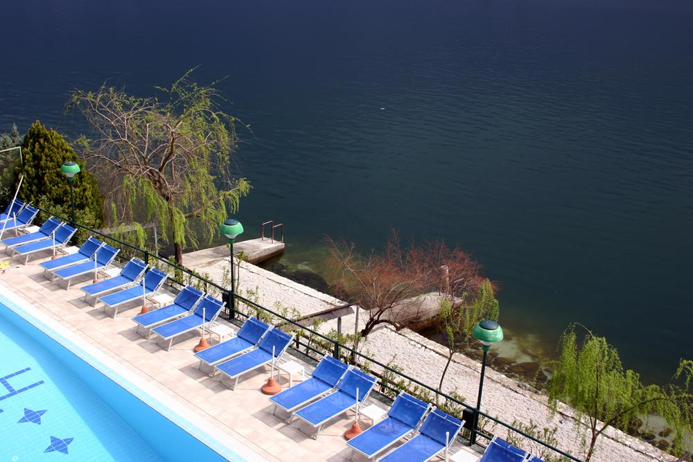 Vogelperspektive in Limone am Gardasee
