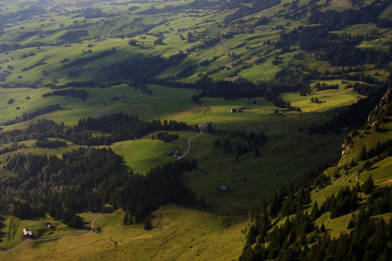Vogelperspektive vom Hoher Kasten (CH_ Appenzell)