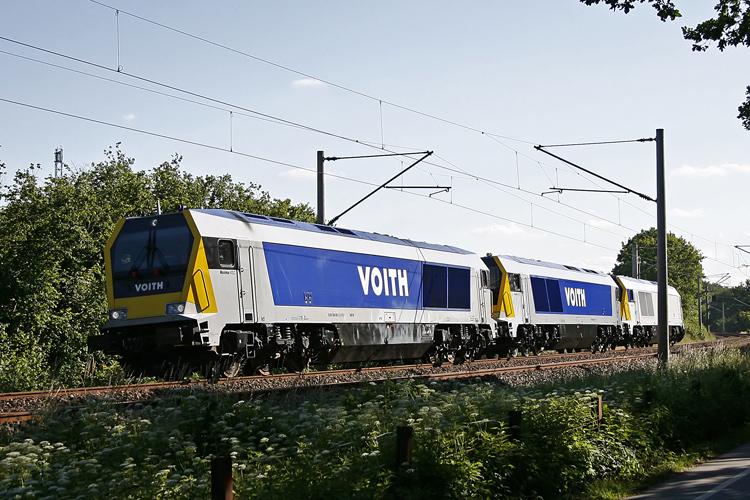 Voith Maxima 40 CC in maximaler Anzahl auf DB Gleisen.