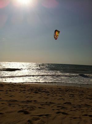 Vol au dessus d'un océan