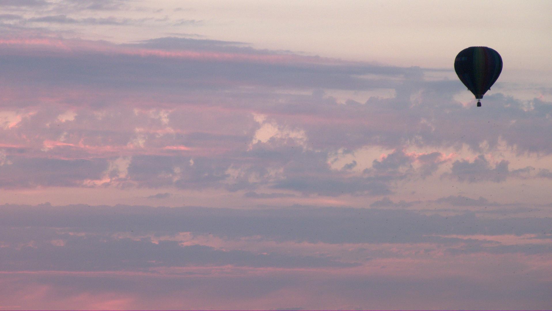 vol dans le ciel — fin de journée — fin d'été