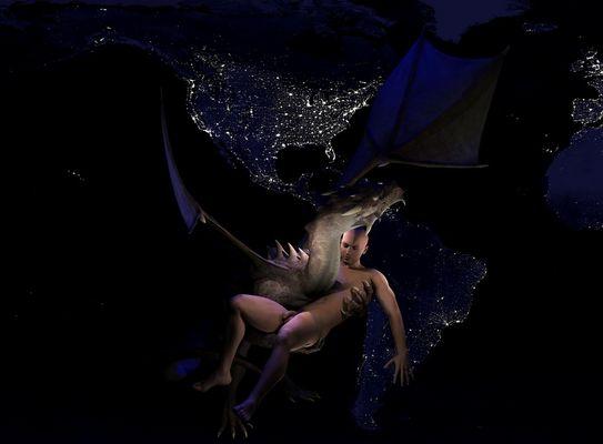 Vol de dragon vers le paradis