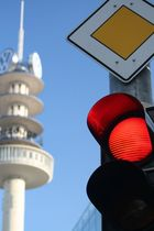 Volkswagen Tower Hannover - Rote Ampel