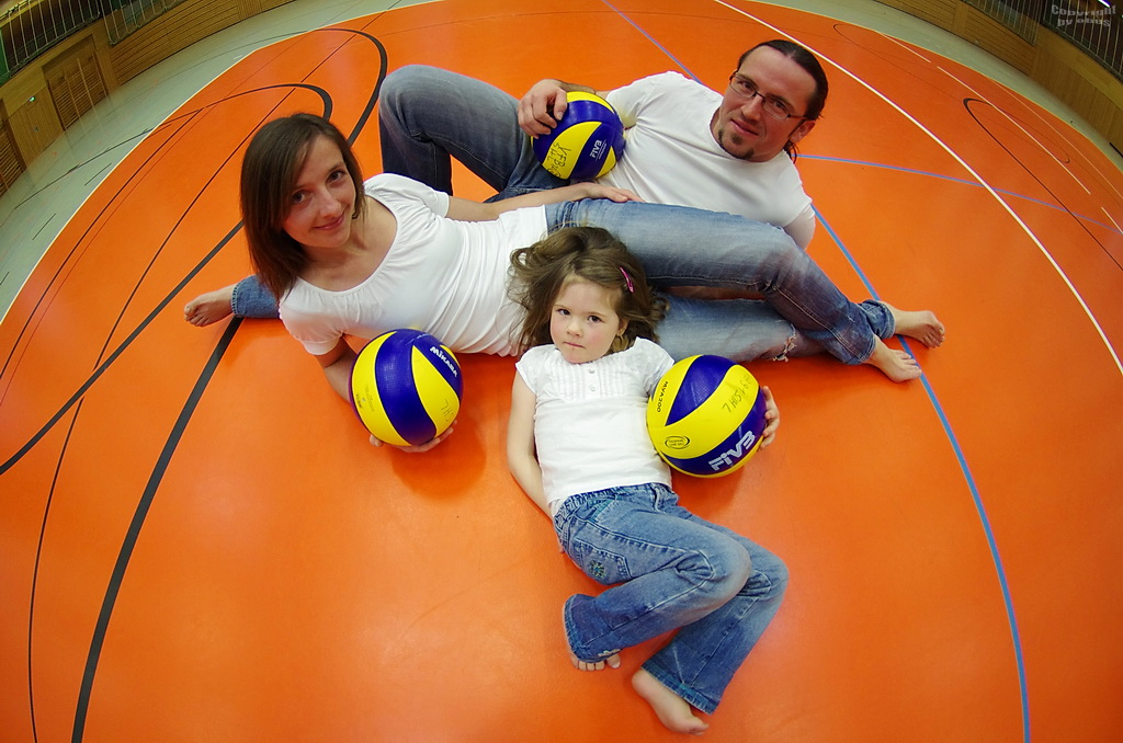 Volleyball-Familie,