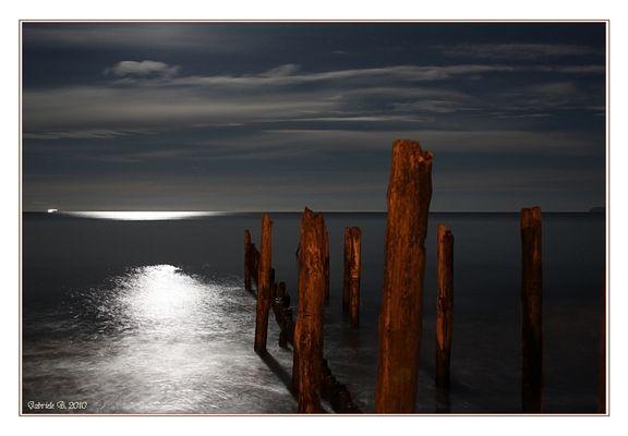 Vollmond am Strand von Juliusruh....