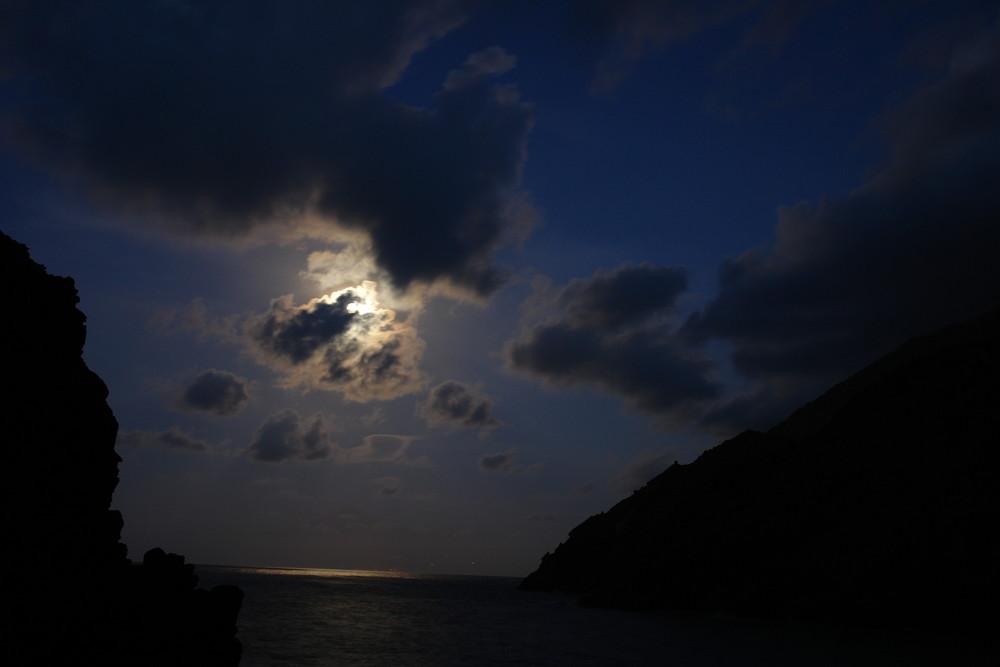 Vollmond auf La Gomera 25.10.2007 Castillo del Mar