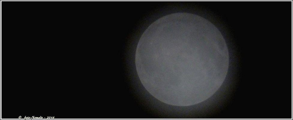 Vollmond in den Wolken - 16.09.16